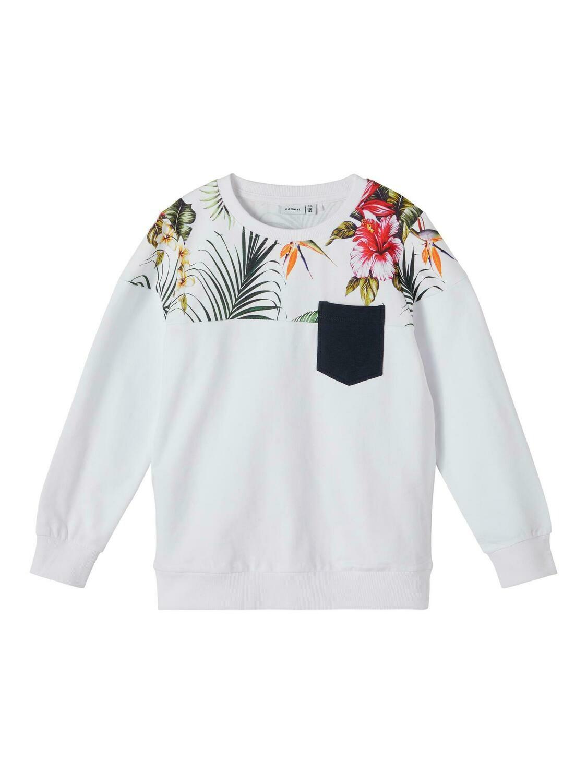 KIDS Trui sweater - FAKIR - wit/jungleprint
