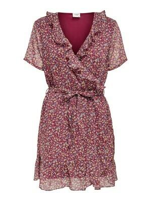 * Korte jurk - JENNIFER - rhododendron met bloemen