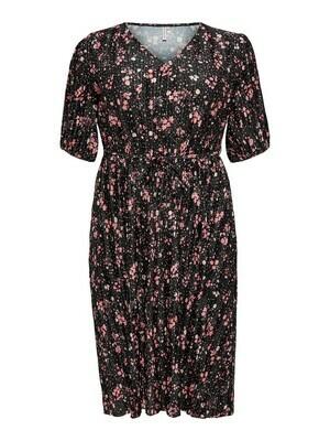 *  + Maxi jurk - JELLA - zwart/bloemenmotief