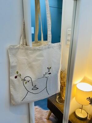 Tote bag zak - WOMAN - écru/zwart-multicolor