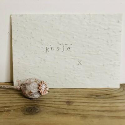 Wenskaart growing card - KUSJE X
