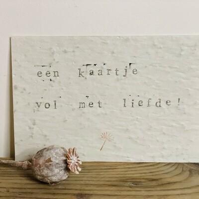 Wenskaart growing card - EEN KAARTJE VOL MET LIEFDE!