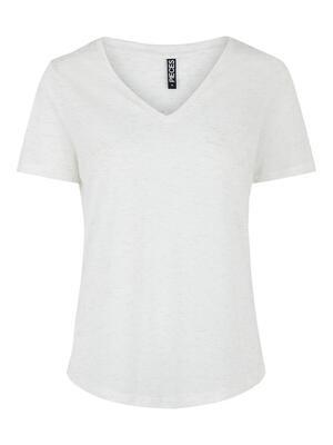 T-shirt - HAYLOW - wit met zilveren lurex