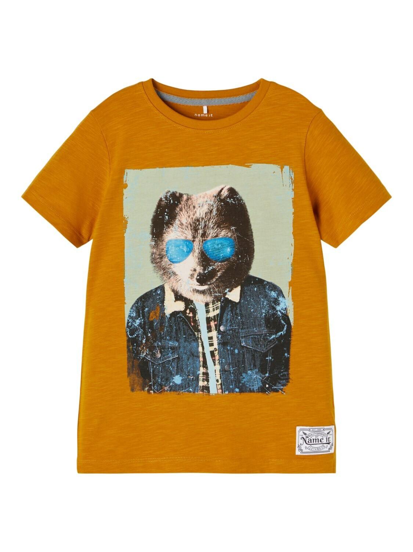KIDS t-shirt - KAJAB - okergeel