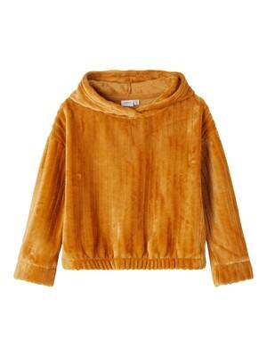 KIDS hoodie teddy - KEISIL- okergeel