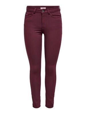 Skinny jeans - LARA LIFE - wijnrood