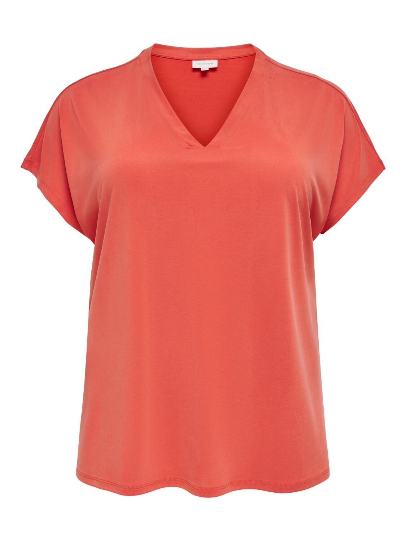 + T-shirt - NICKY - koraalrood