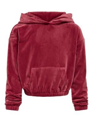 KIDS hoodie - LAYA - donkerroest