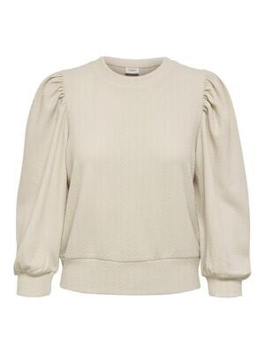 Sweater knit look - ANNY - beige