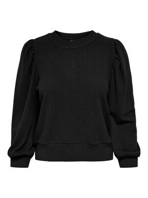 Sweater knit look - ANNY - zwart