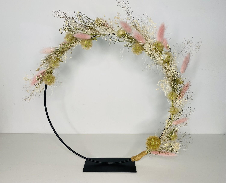 13 - Droogbloemen - flowerhoop M op staander - keuze 2