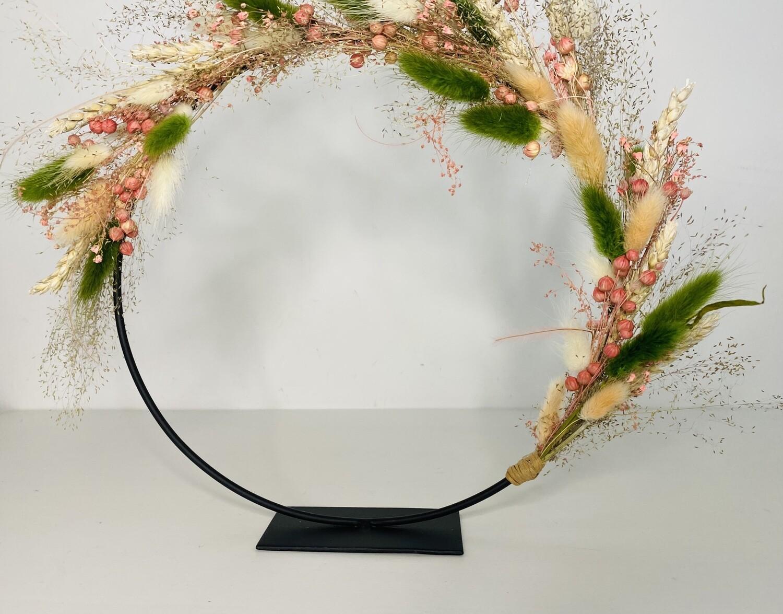13 - Droogbloemen - flowerhoop S met staander - keuze 1