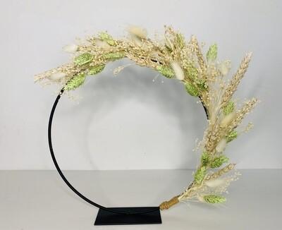 13 - Droogbloemen - flowerhoop S met staander - keuze 2