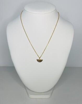 Halsketting - MOON - goud