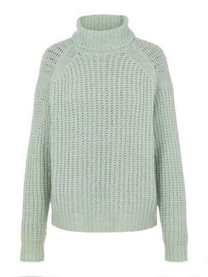 Knitwear turtleneck trui - FRESH - groen