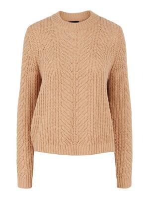 Knitwear trui - FIRE - lichtbruin