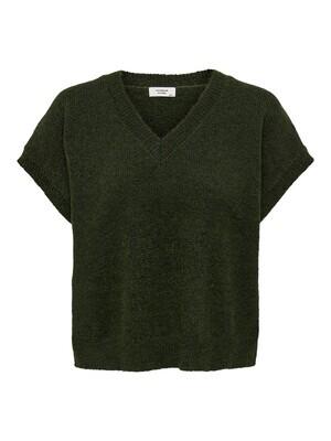 Debardeur knit - FIREZ - donkergroen
