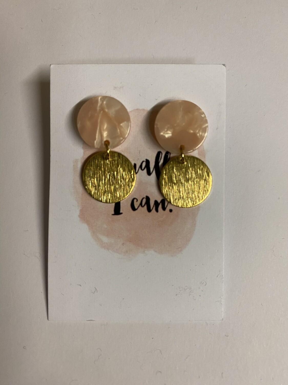 Oorbellen stekertjes - ACTUALLY I CAN - roze/goud