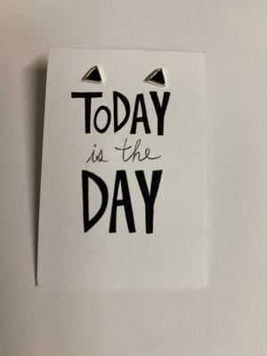 Oorbellen stekertjes - TODAY IS THE DAY - zwart