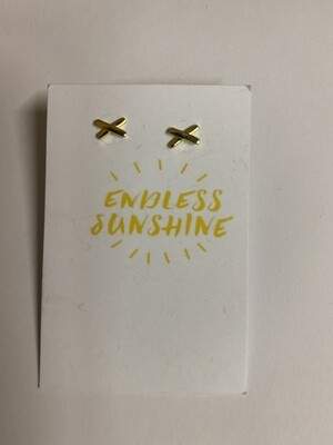 Oorbellen - ENDLESS SUNSHINE - kruisjes goud