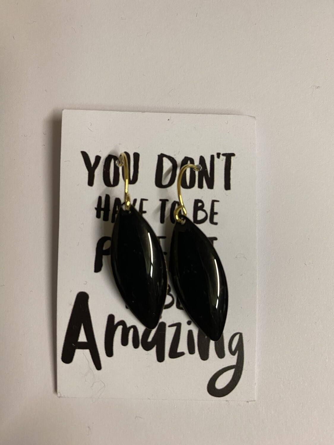 Oorbellen  - YOU DON'T HAVE TO BE PERFECT… - zwart