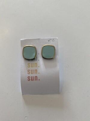 Oorbellen stekertjes - SUN SUN SUN - lichtblauw