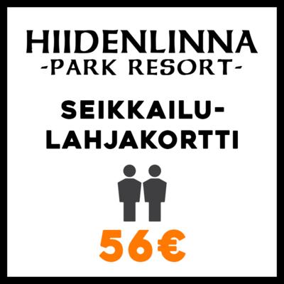 Seikkailulahjakortti 2hlöä 56€
