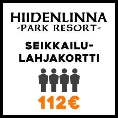 Seikkailulahjakortti 4 hlöä 112€