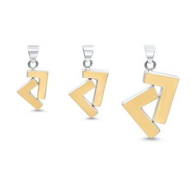 925s/14k gold tone seven pendant