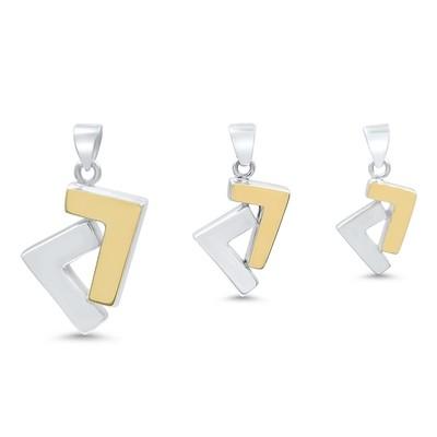 925s/14k gold two tone se7en pendant