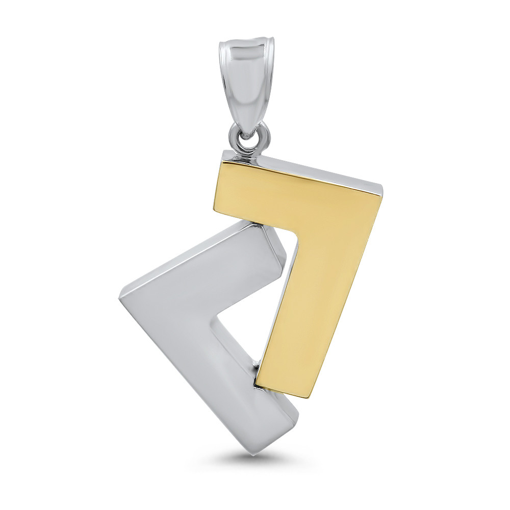 14k Gold 2-tone seven pendant