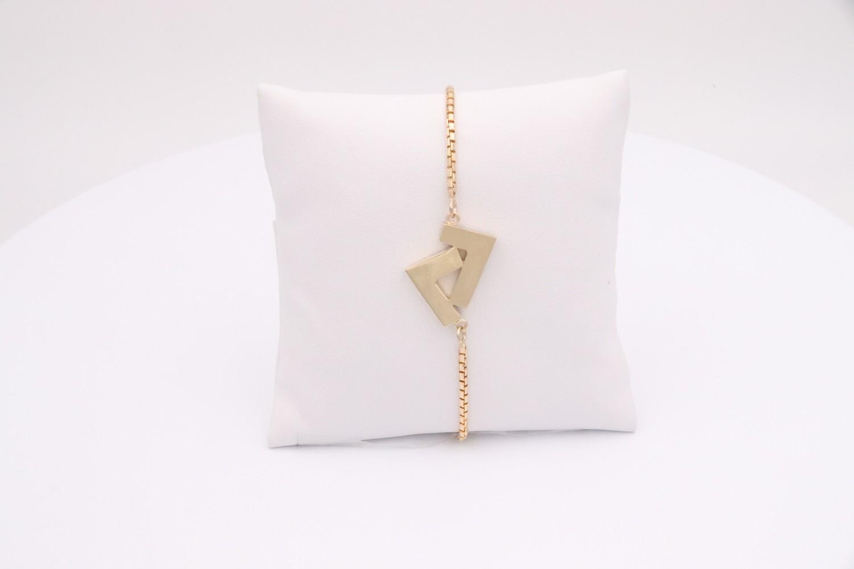 14k White Gold adjustable bracelet