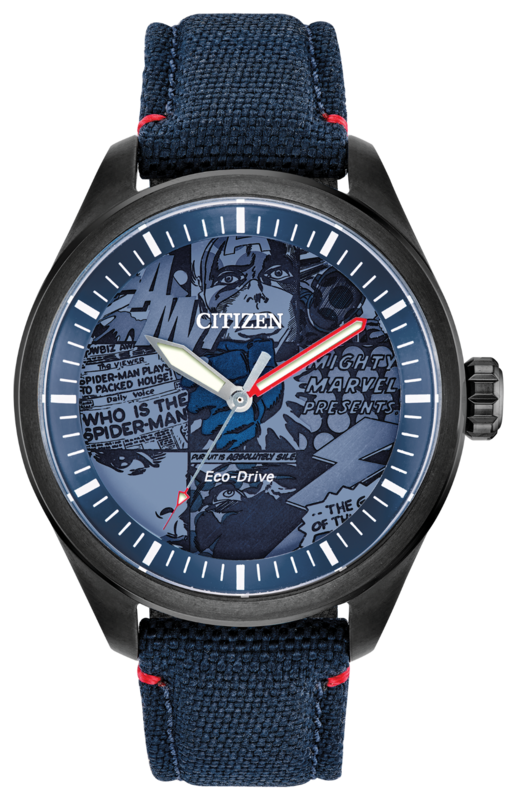 The Marvel Heroes timepiece by Citizen