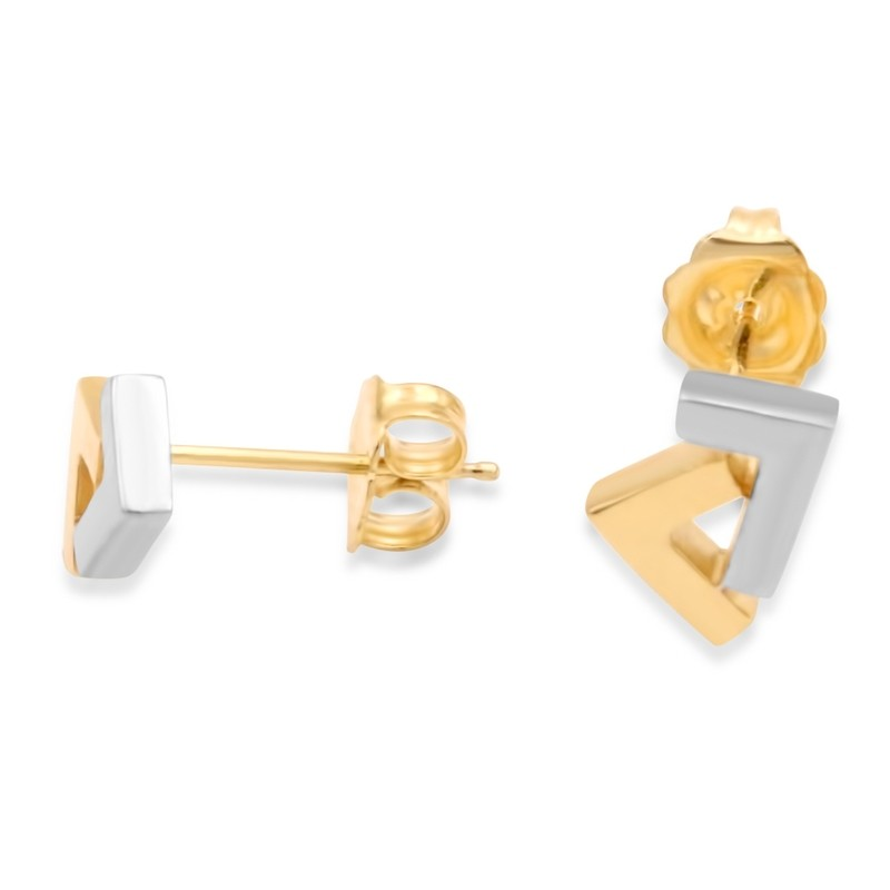 14k Gold 2-tone seven stud earrings