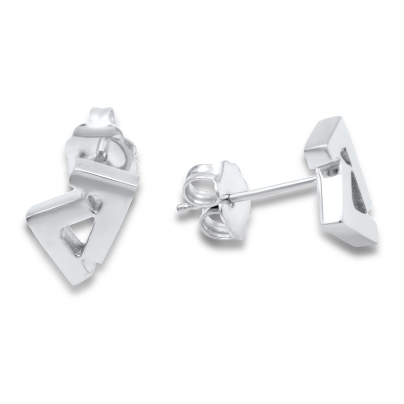 14k White Gold Seven stud earrings