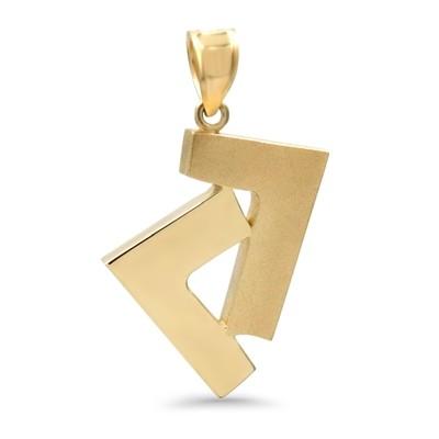 14K Yellow Gold Seven pendant