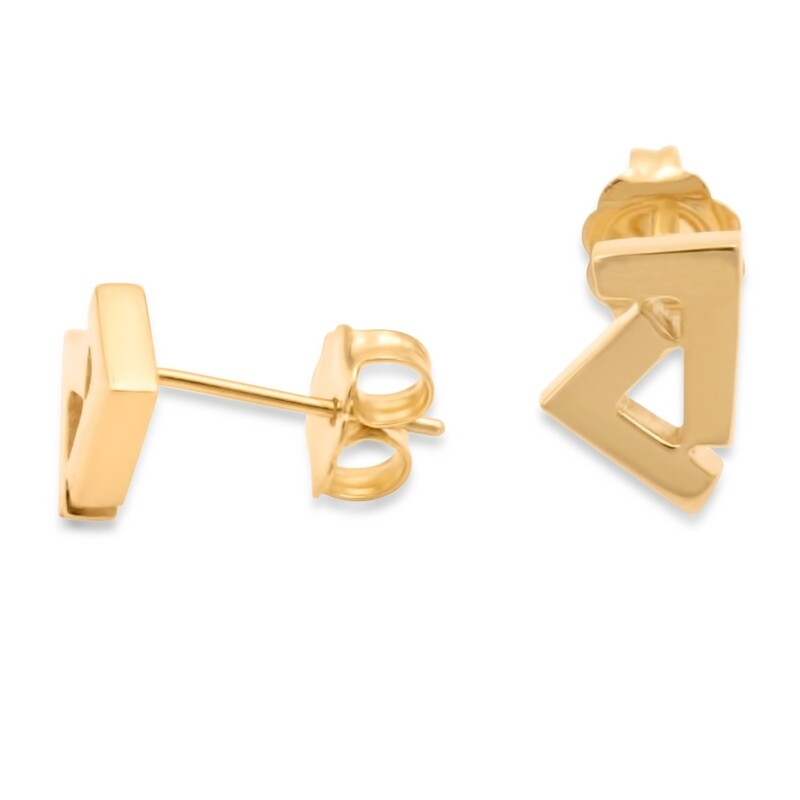 14k Gold Seven stud earrings