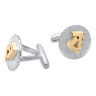 925s/14k two tone Seven cuff links