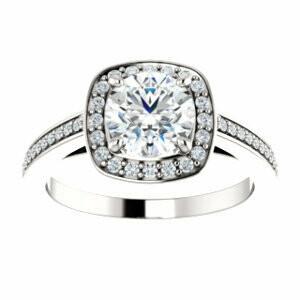 14k white gold 1.02 Center diamond engagement ring