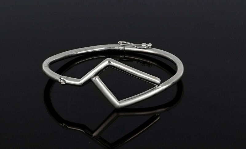 925s Seven Tube Style Bangle Bracelet