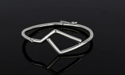 925s Seven Tube Style Bangle Bracelet