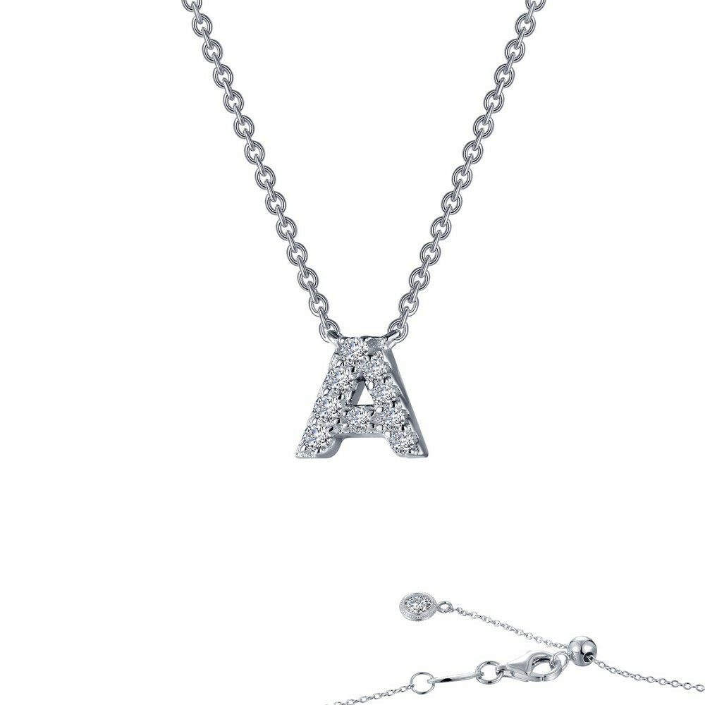 Letter A pendant necklace