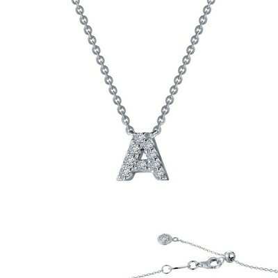 Letter A pendant necklace