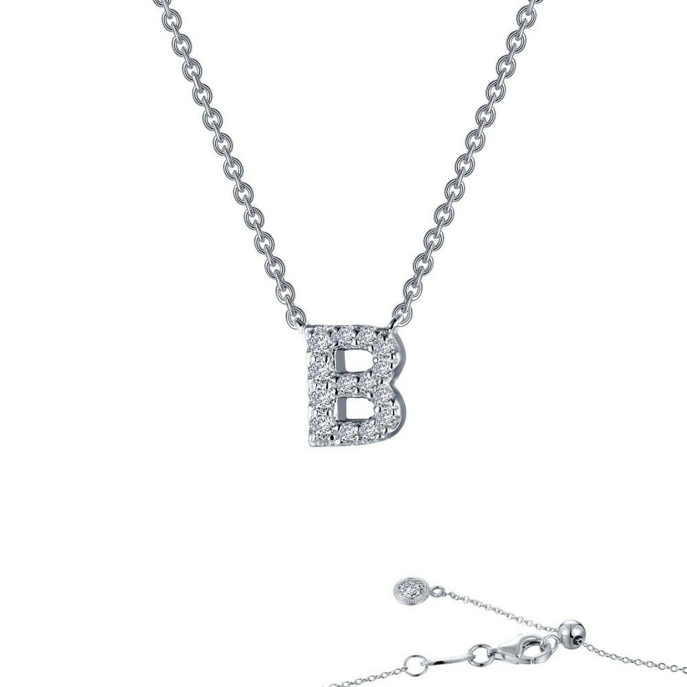 Letter B pendant necklace