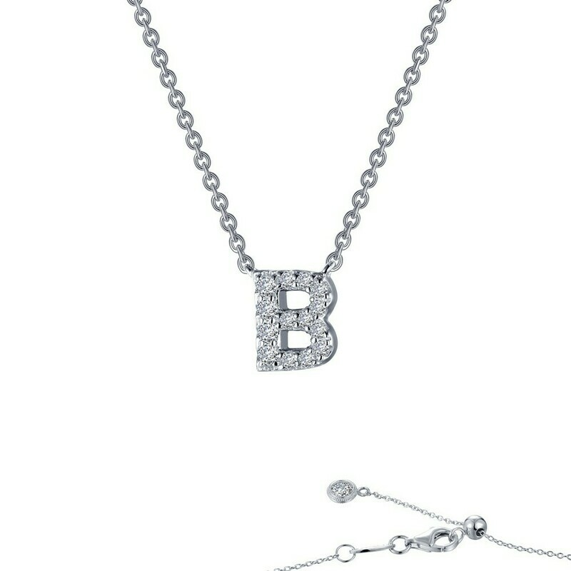 Letter B pendant necklace