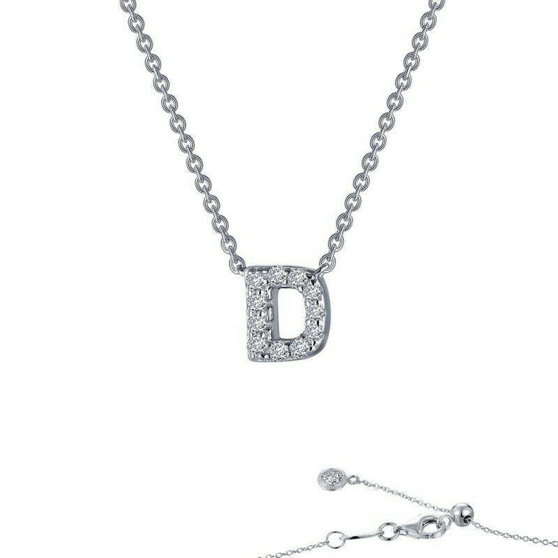 Letter D pendant necklace