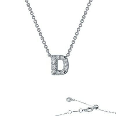 Letter D pendant necklace
