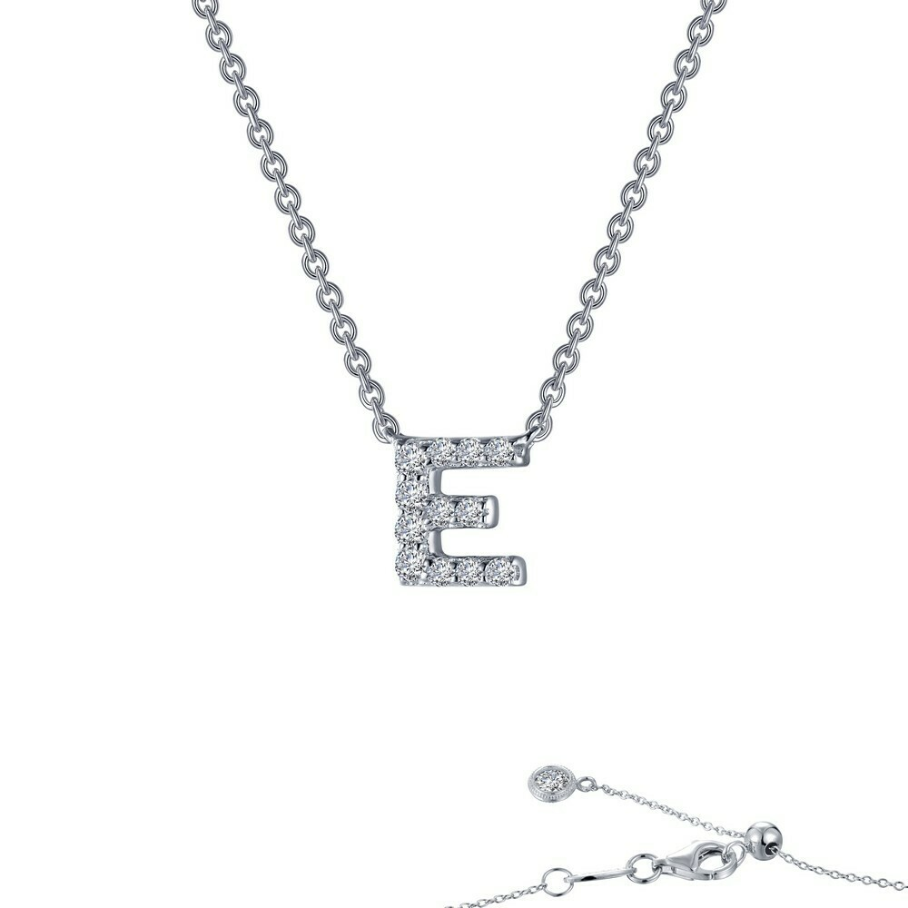 Letter E pendant necklace
