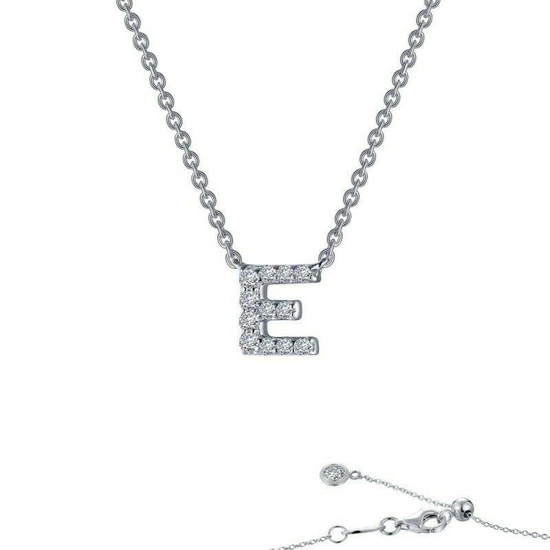 Letter E pendant necklace