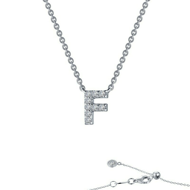Letter F pendant necklace